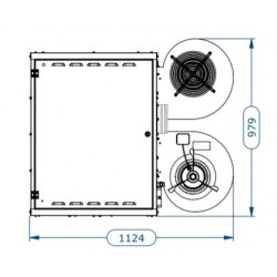 Газов топловъздушен апарат с центробежен вентилатор  - 67.4 kW