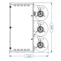 Газов топловъздушен апарат с центробежен вентилатор - 125.6 kW