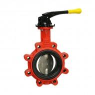 """Бътерфлай клапа тип """"LUG"""" с диск от неръждаема стомана - DN125"""