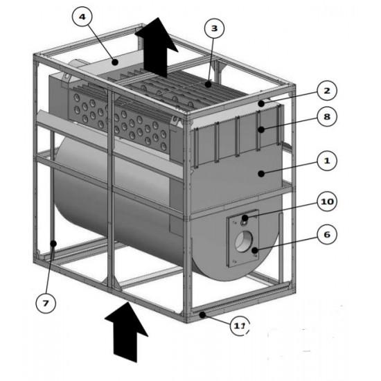 Газова секция за сушилни и производствени процеси със средно високи температури - 290 kW