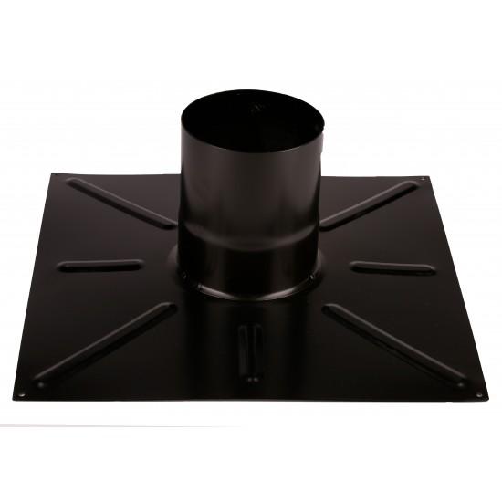 Плоча черна за плосък покрив 408 x 408 mm, ф 60/100 mm