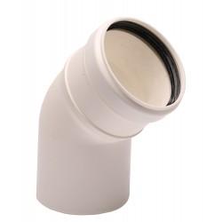 Коляно за единичен комин 45° - 80 mm