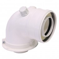 Коляно адаптор 60/100 mm - Radiant
