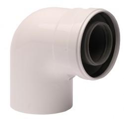 Коляно адаптор 60/100 mm - Argo, Baxi, Roca, Viessmann