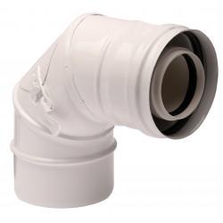 Ревизионно коляно за коаксиален комин 90°, 60/100 mm