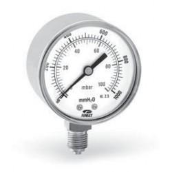 Радиален манометър ф63. Диапазон 0 - 100 mbar