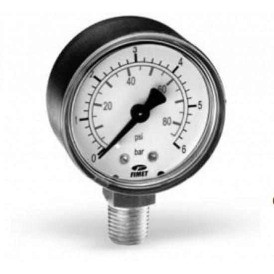 Радиален манометър ф63. Диапазон 0 - 4 bar