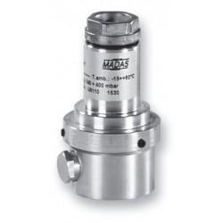 """MVS/1 - Компактен предпазно-изпускателен клапан за газ  1/4"""". Диапазон 40-500 mbar"""