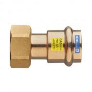 """Бронзов прес холендър за газ от две части - ф15 x 1/2"""" Ж/Ж"""
