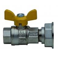"""Сферичен кран за газ с Т-образна ръкохватка, Ж/Х - 1"""" х 1"""" 1/4"""