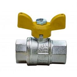 """Сферичен кран за газ с Т-образна ръкохватка RB, Ж/Ж - 1/4"""""""